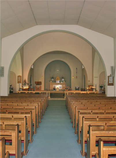 A view from the back of the church.