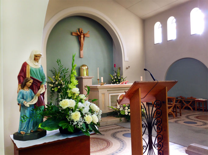 The Altar & statue of St. Ann